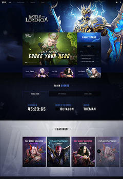 Battle for Lorencia V3 Game Website Template