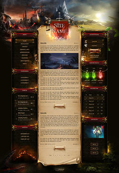 Lineage II Dragon Mountain Game Website Template