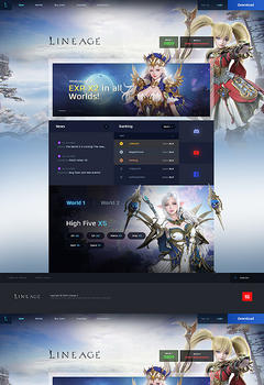 L2 Modern Fantasy Game Website Template