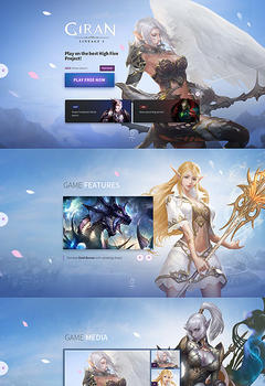 L2 Giran Fullscreen Game Website Template