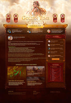 L2 Golden Time Game Website Template