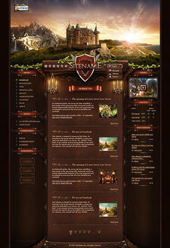 L2 Knight Castle Game Website Template