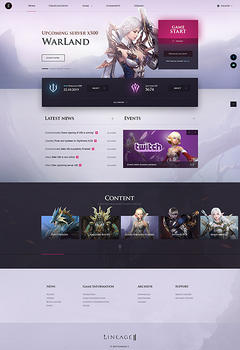 WarLand Lineage 2 Game Website Template