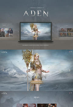 Lineage 2 Aden Game Website Template