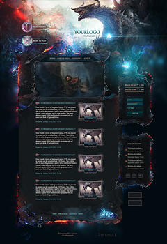 Lineage 2 Dragon Game Website Template