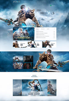 Lineage 2 Era of Heroes Game Website Template