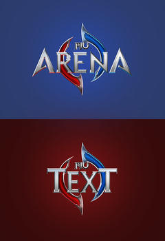 MU Arena Game Logo PSD Template