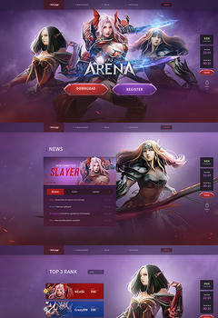 Mu Arena Fullscreen Game Website Template
