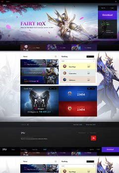 Mu Server Game Website Template