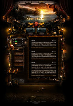 Pirates Caribbean Game Website Template