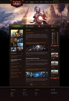 Role Playing Game Website Template